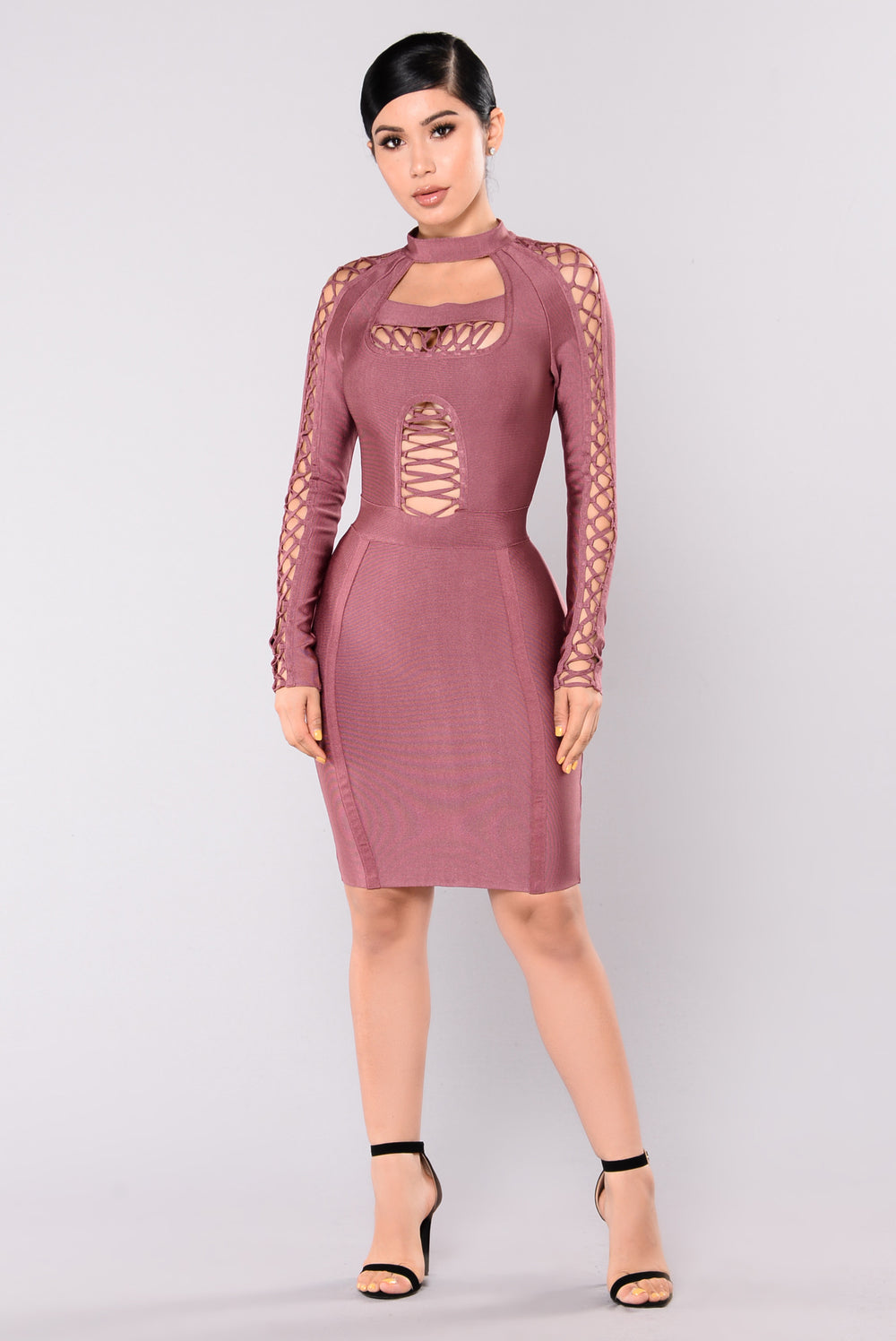 Taliah Dress - Red/Brown