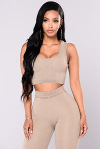 Sonja Crop Top - Khaki