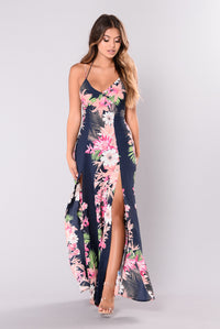 Serendipity Floral Dress - Navy