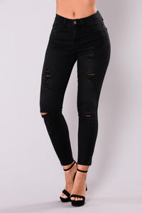 Ride Or Die Skinny Jeans - Black