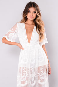 Set Our Love On Fire Dress - White