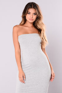 Adrienne Tube Dress - Heather Grey