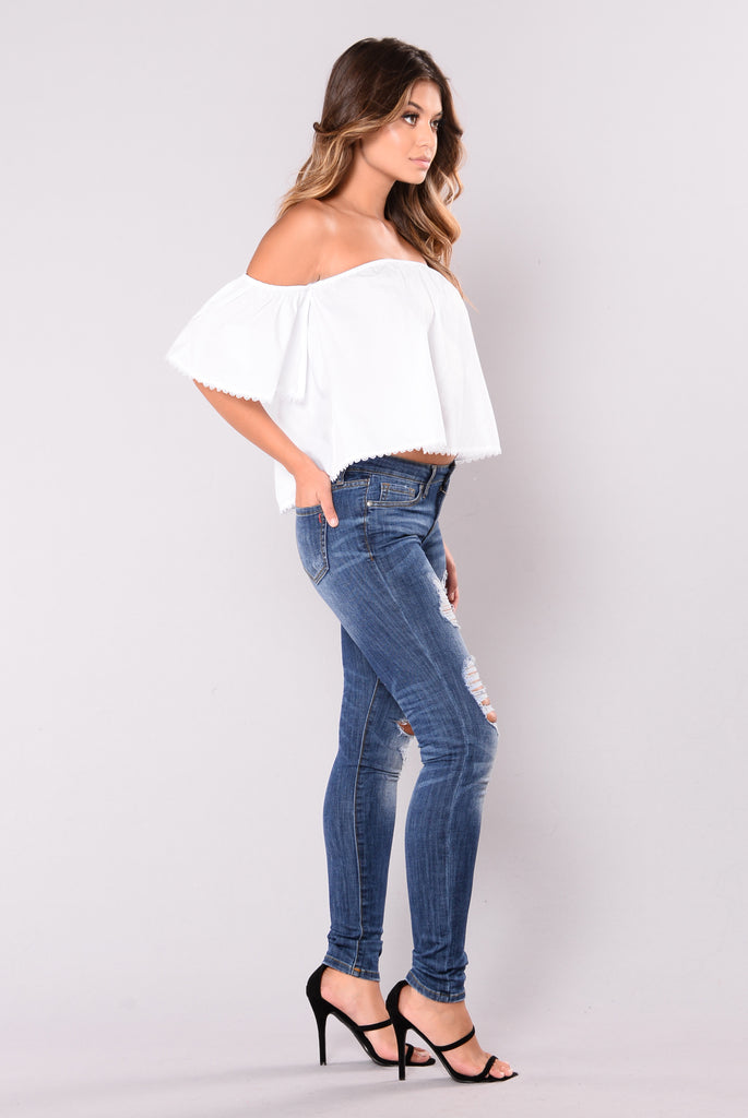 Gibson Off Shoulder Top - Off White