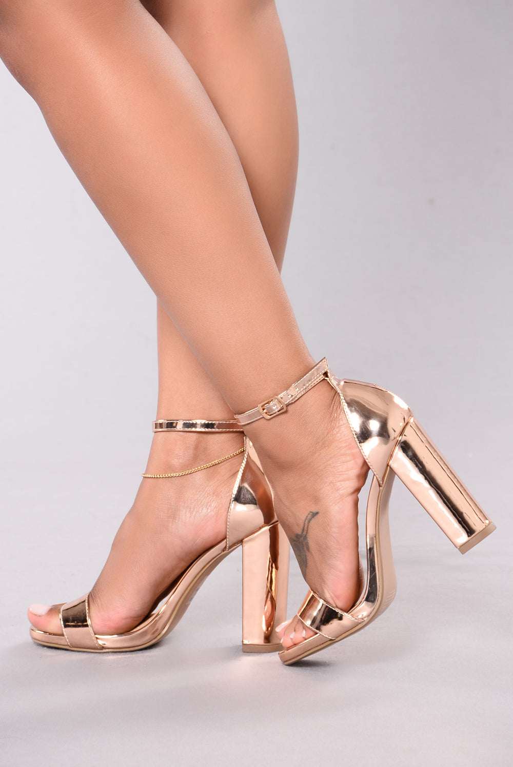 Mirror Mirror Heel - Rose Gold