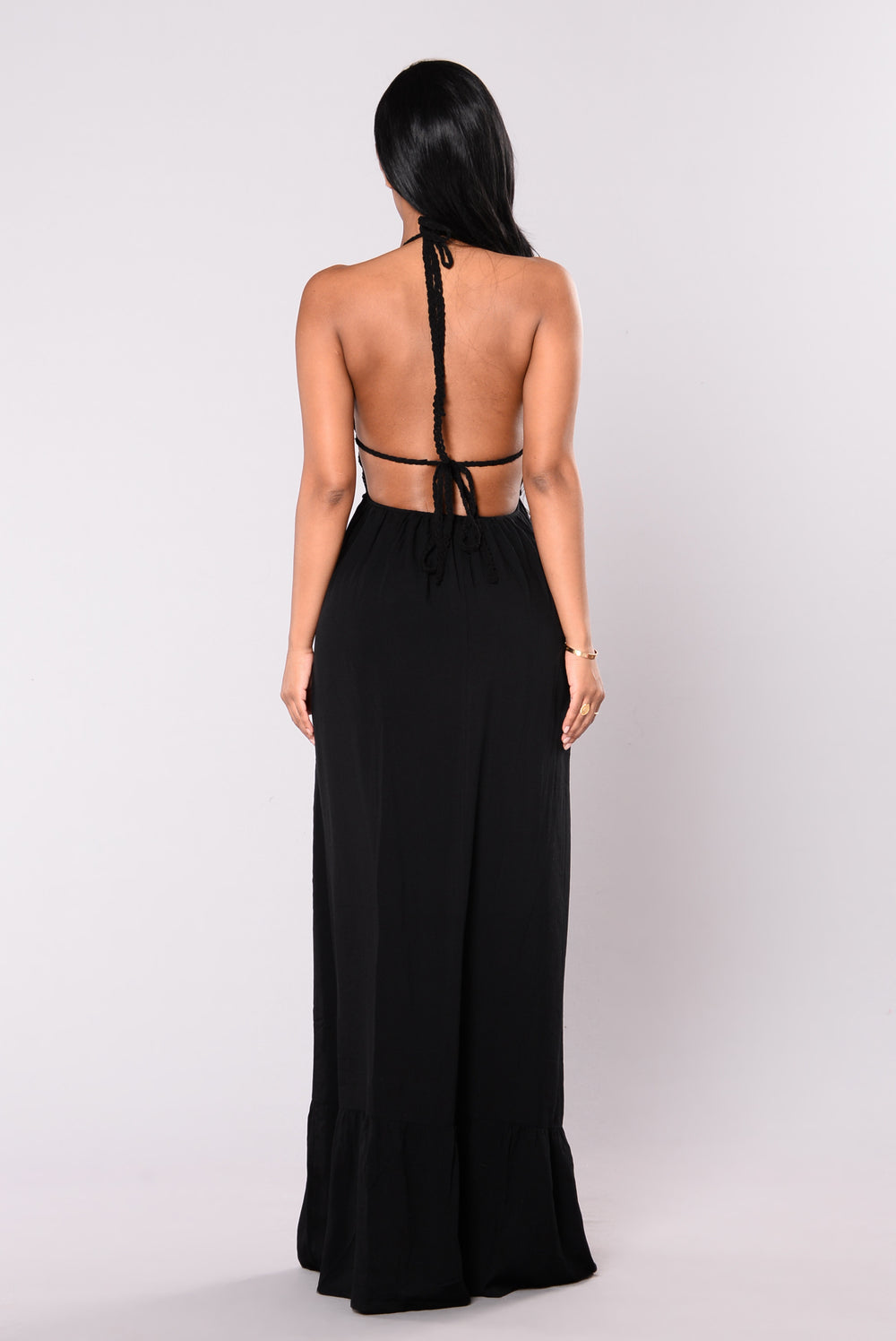 Running Seas Maxi Dress - Black
