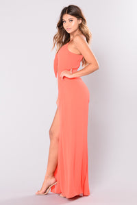 Know My Worth Jumpsuit - Coral
