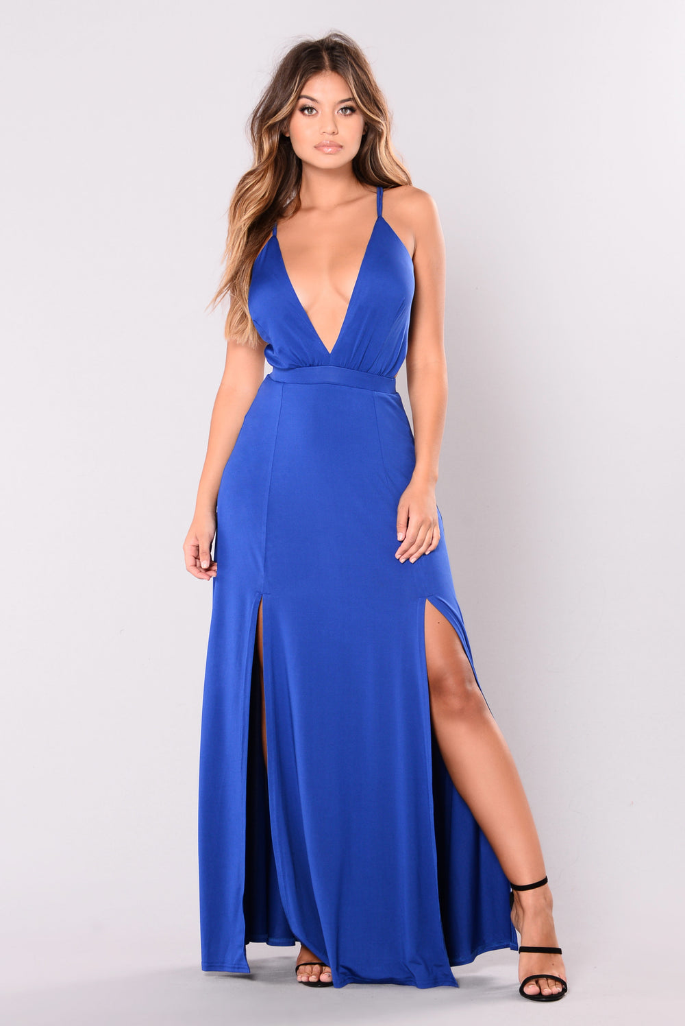 Take My Love Dress - Royal