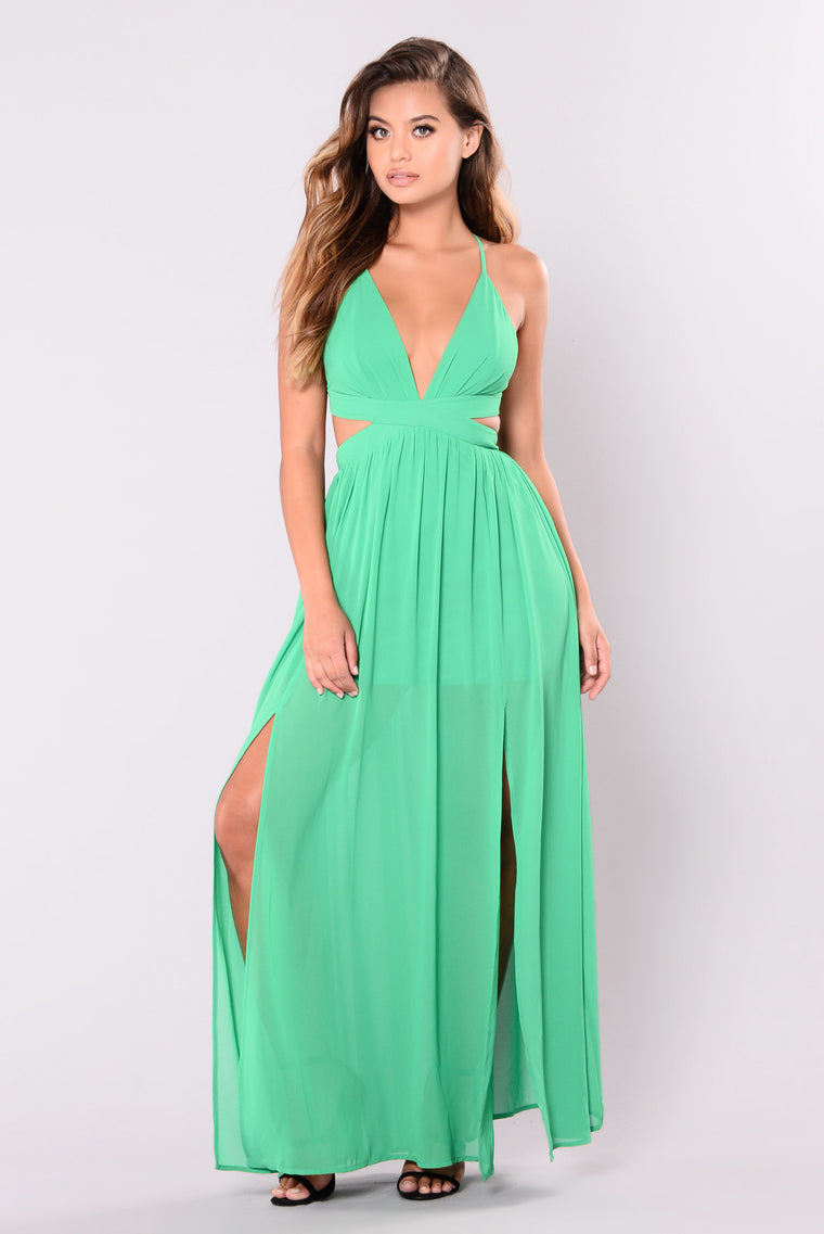 All Summer Long Maxi Dress - Green-1669