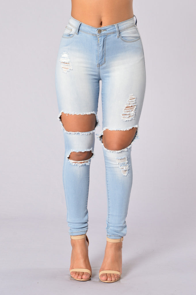 Don't Be a Square Jegging - Light Blue