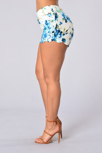 Spring Bloom Shorts - White