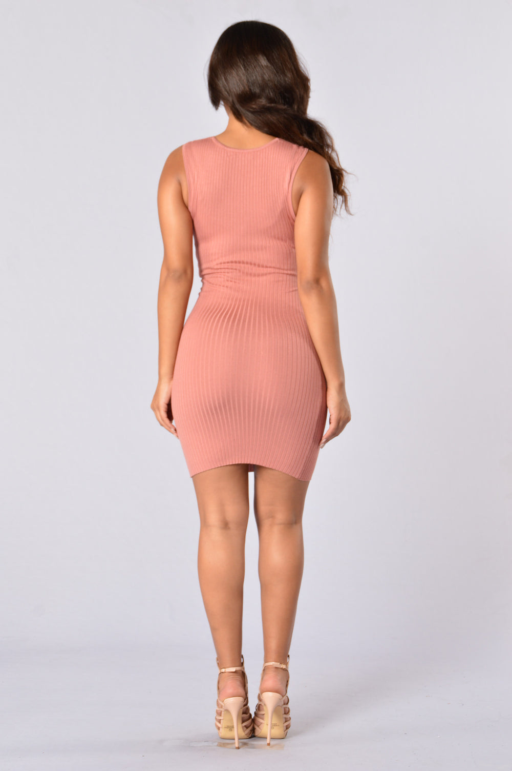 Cross Your Heart Dress - Salmon