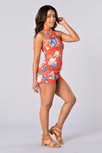 Lilypad Romper - Red