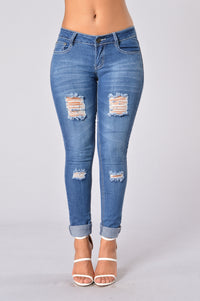Jane Jeans - Medium Blue Angle 1