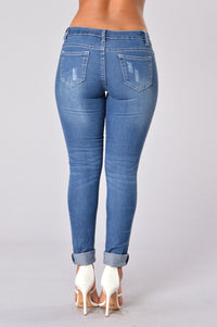 Jane Jeans - Medium Blue Angle 2