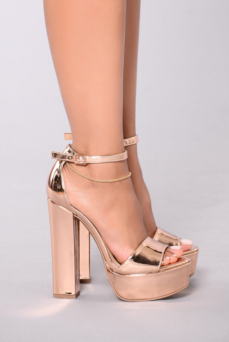 Taller Than Life Heel - Rose Gold