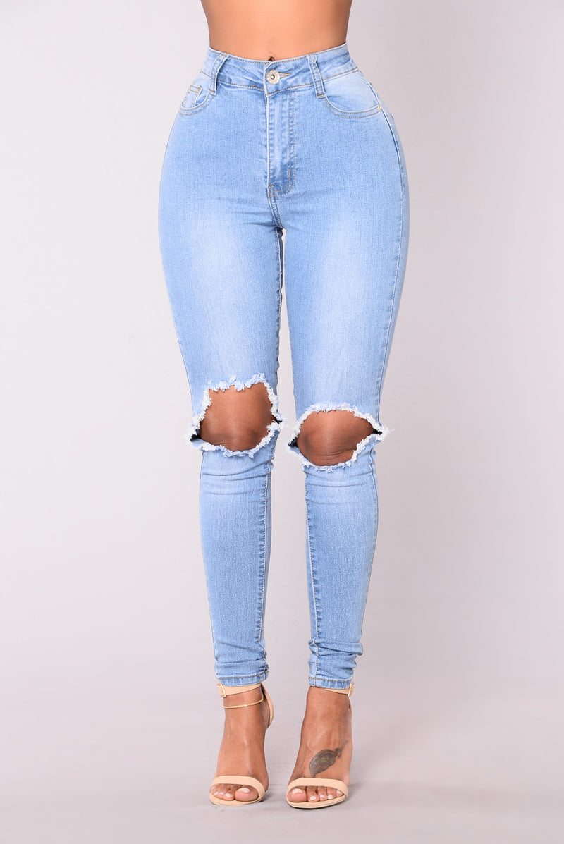 Blue Dream High Rise Jeans - Light Blue Wash