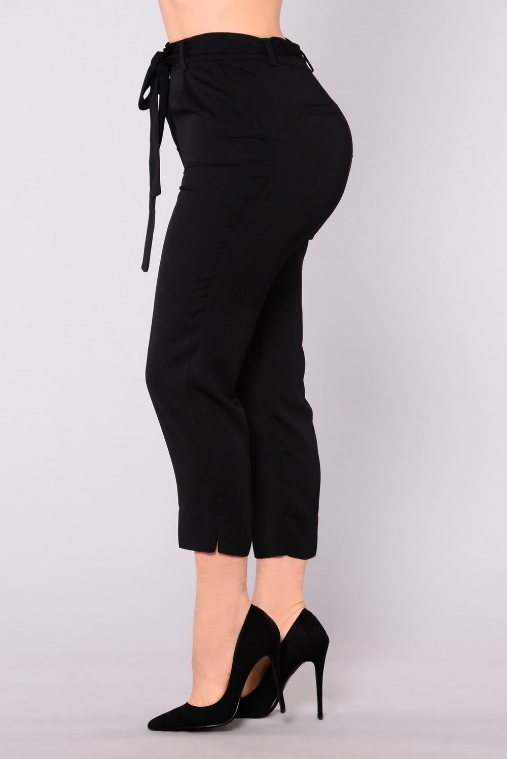 Set It Off Capri Pants - Black