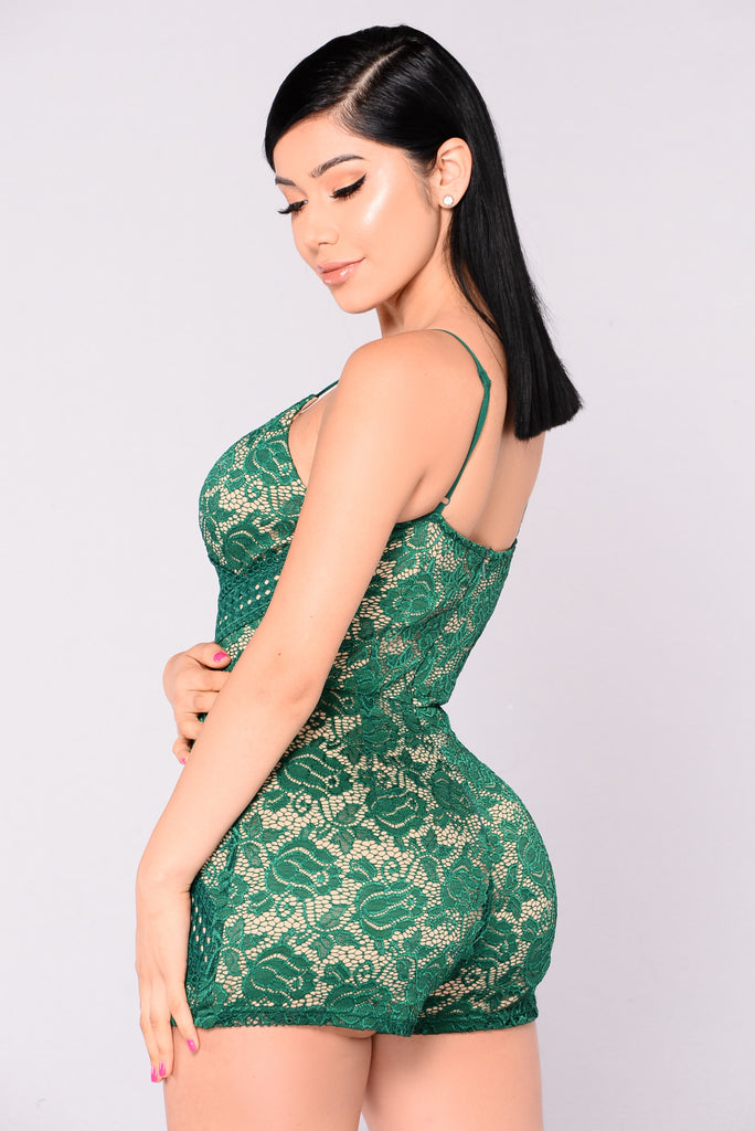 Perry Romper - Hunter Green