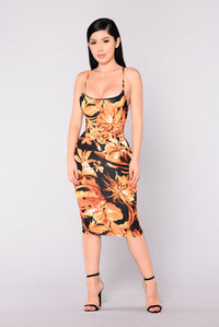 Baccara Dress - Black Multi