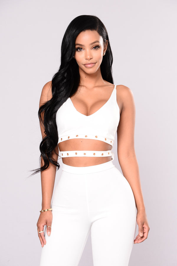 ccbb7749de9b3 About Your Style Skinny Leg Jumpsuit - White