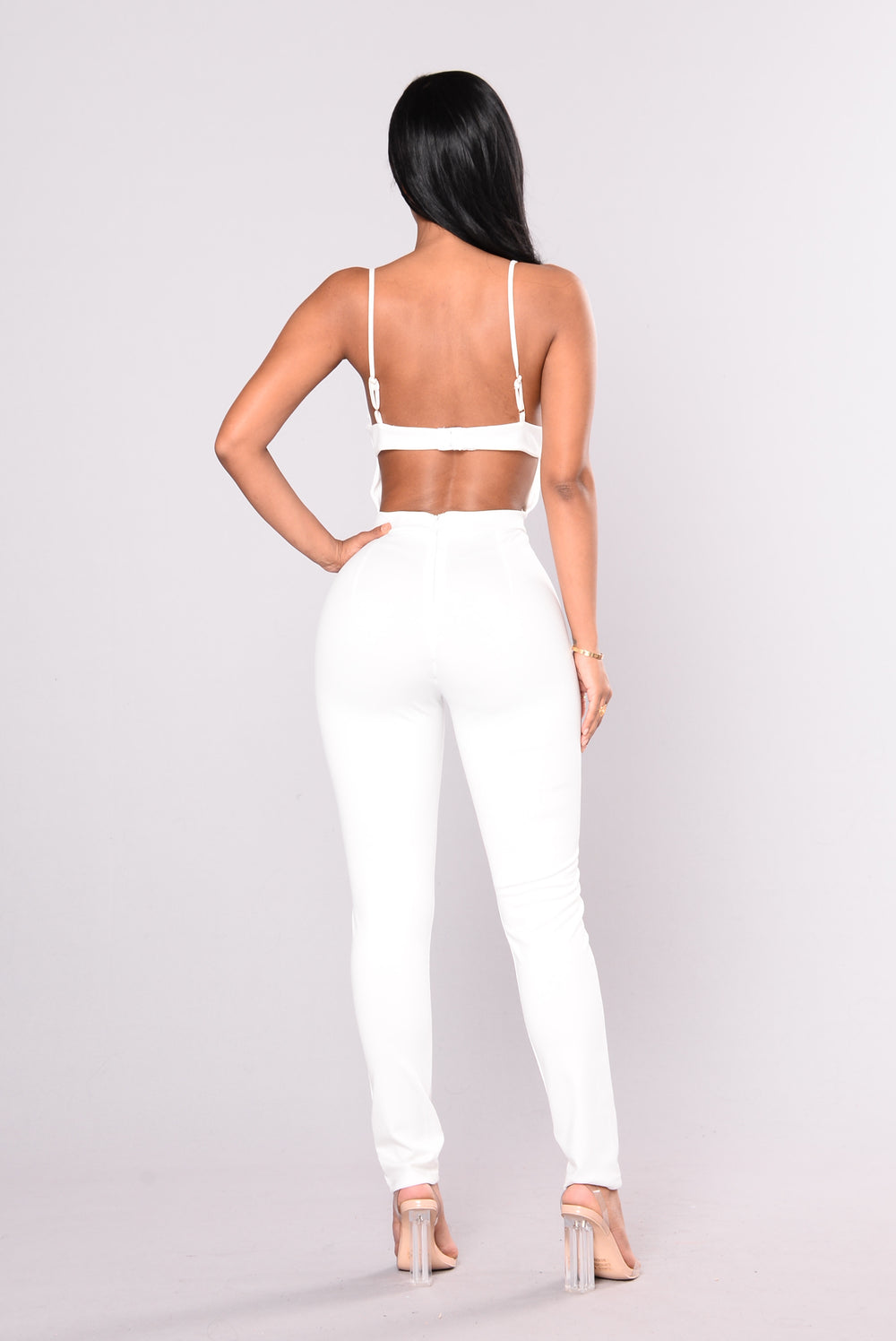 About Your Style Skinny Leg Jumpsuit - White