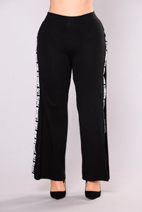 Verlaine Stripe Pants - Black