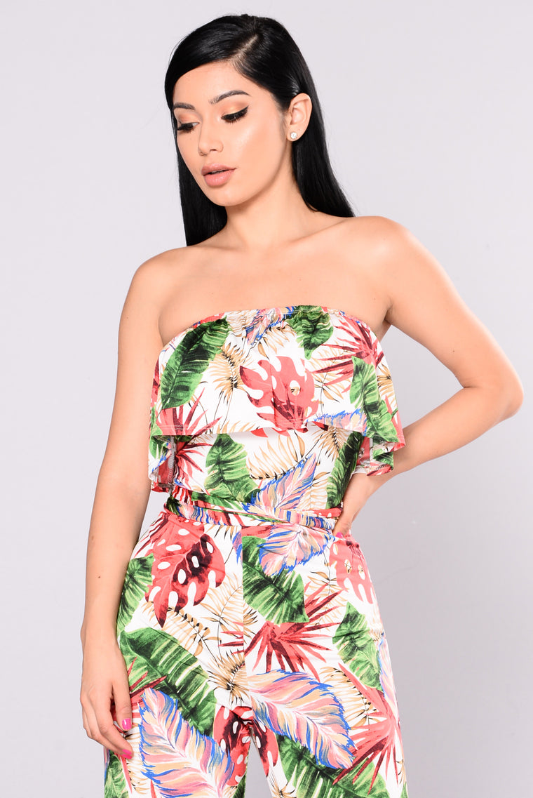 Wakea Tropical Jumpsuit - Ivory