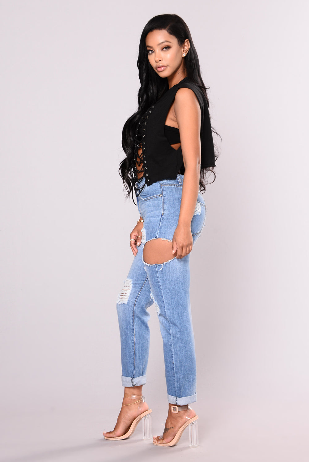 Tiana Cropped Top - Black