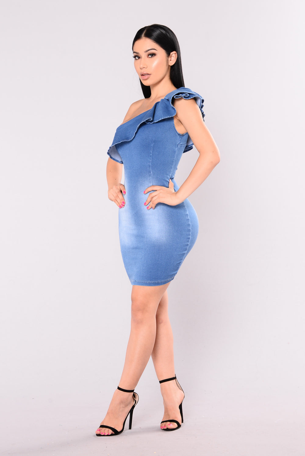 As It Unfolds Denim Dress - Light