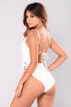 Santa Fe Swimsuit - White/Rose Gold