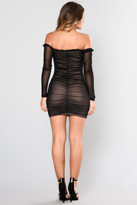 Maura Mesh Dress - Black Angle 5