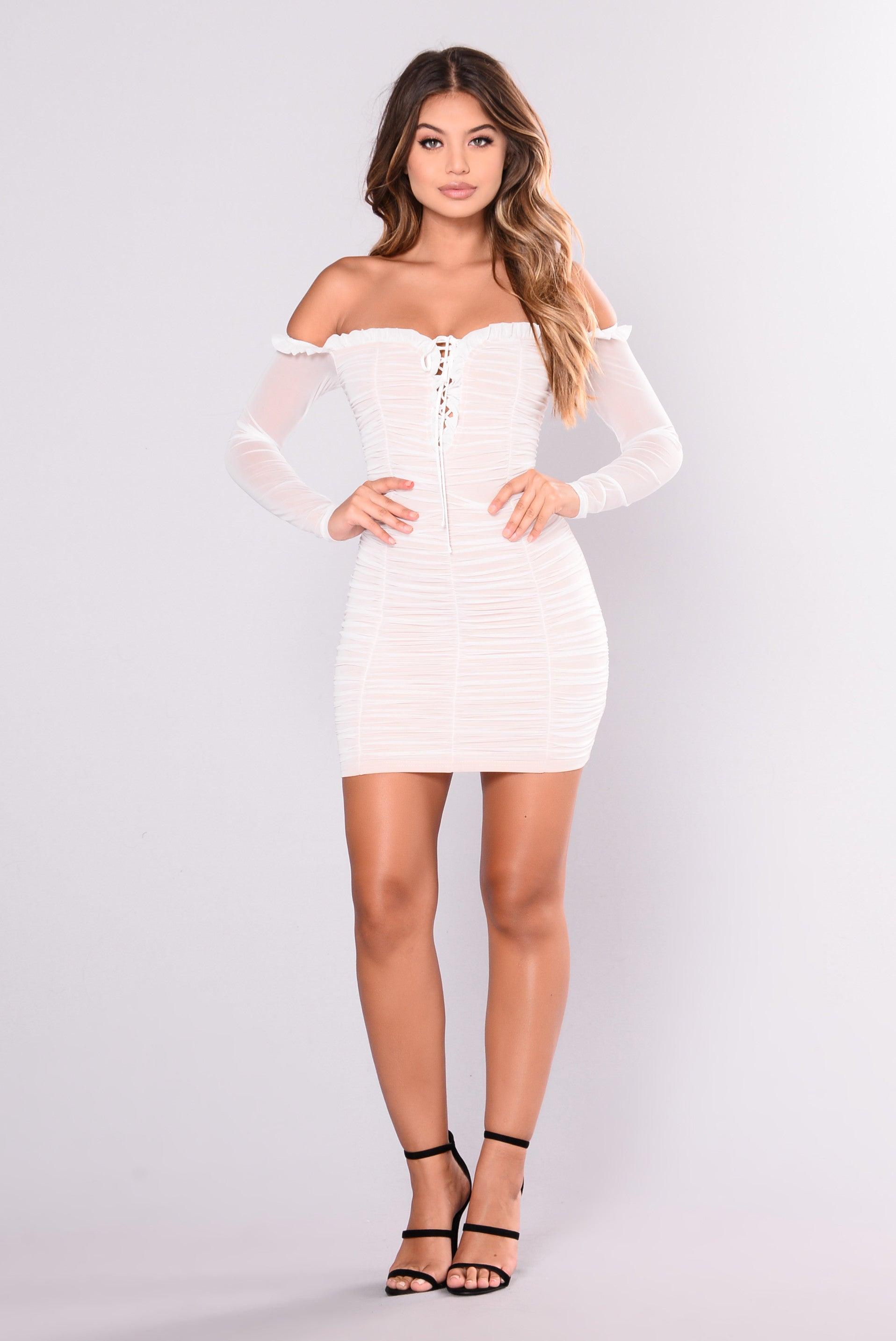 e163015bc19 Maura Mesh Dress - White