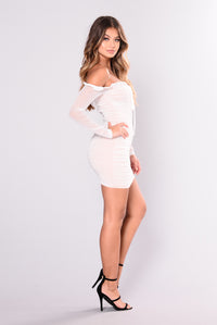 Maura Mesh Dress - White Angle 5