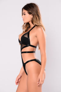 Monika Monokini - Black