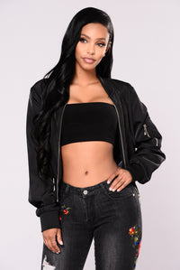 First World Problems Bomber Jacket - Black