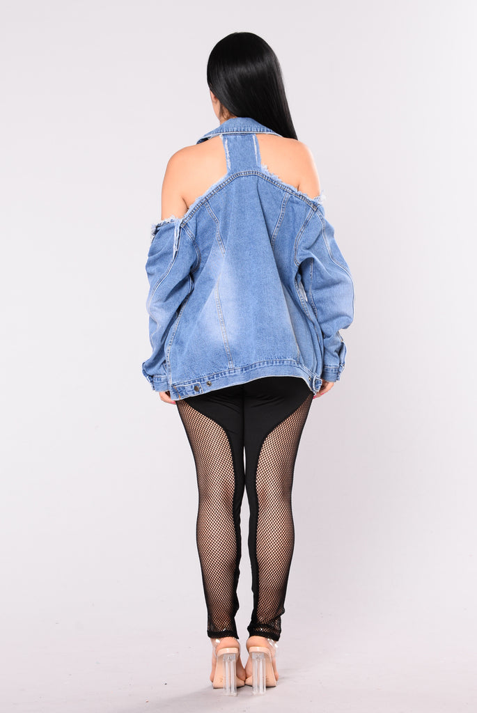 Don't Stress Denim Jacket - Blue