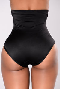 Dorinda High Waist Shaping Brief - Black