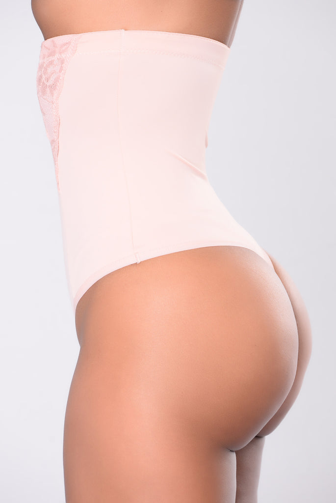 Alissa High Waist Shaping Thong - Rose