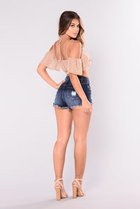 Orlando Distressed Shorts - Dark