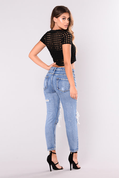 Isley Cropped Tee - Black