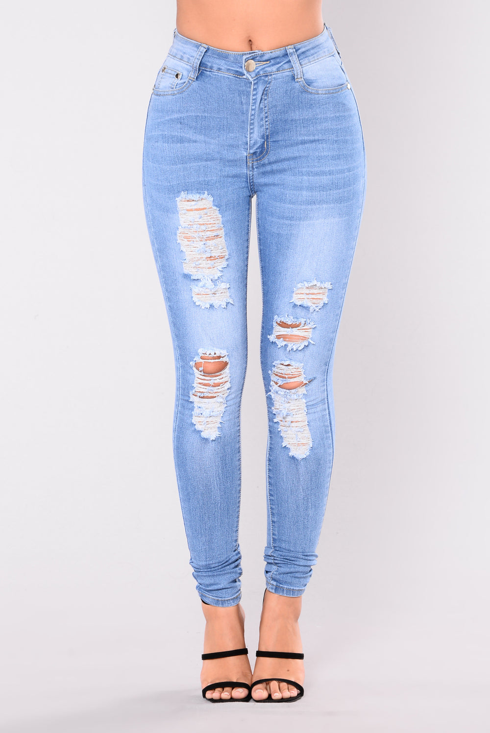 My Mine High Rise Jeans Light Blue Wash