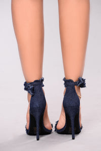 Tania Two Piece Heel - Dark Denim