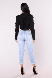Soldier Girl Jacket - Black Angle 5