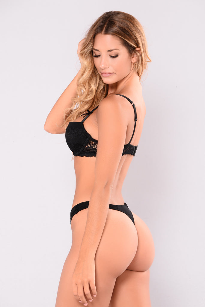 Dance All Night Thong - Black