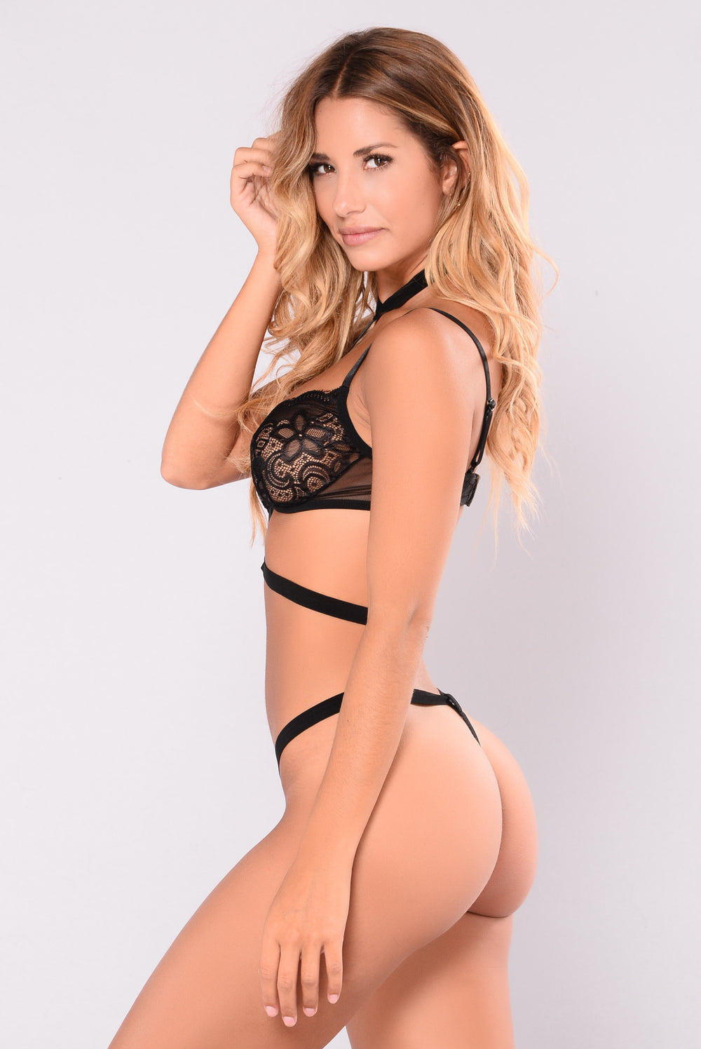 Attached To You Two Piece Set - Black