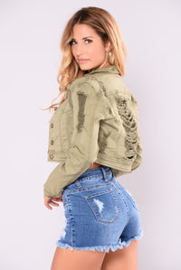 Soldier Girl Jacket - Olive Angle 2