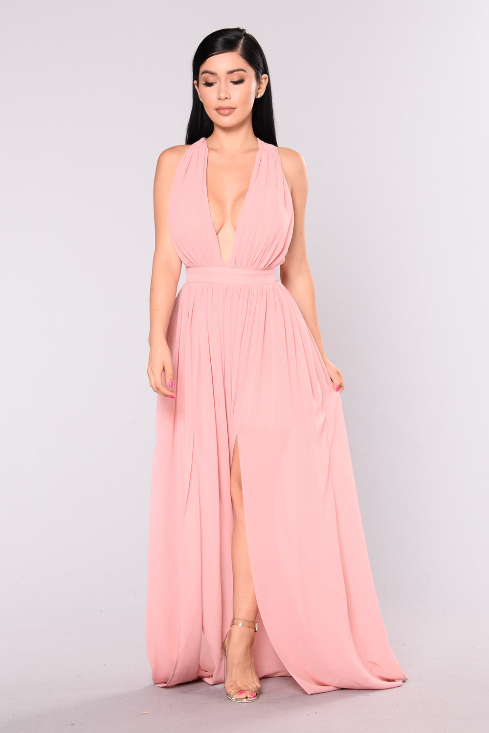 Grand Ballroom Maxi Dress - Mauve