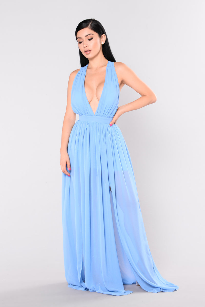 Grand Ballroom Maxi Dress - Blue