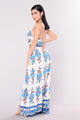 Cristina Jumpsuit - White/Royal