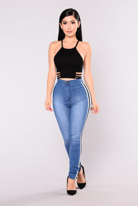 Sonnet Striped Jeans - Medium